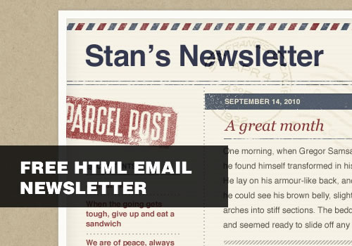 email newsletter templates free