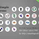 Freebie: 22 Simple Social Media Icons